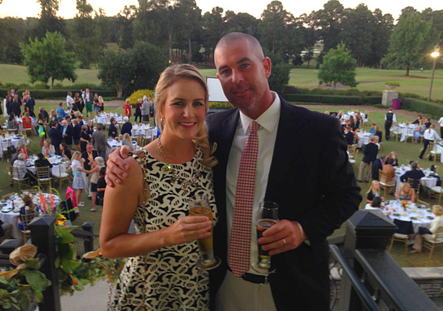 Jessica and husband/caddie Paul at the player's dinner Friday night.