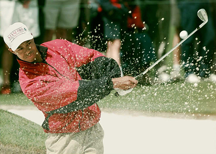 Woods, who would go on to earn nine PGA Tour Player of the Year awards, busted onto the scene with two wins in 11 events during his 1996 rookie year.