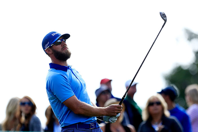 Canadian Graham DeLaet during the third round of the Frys.com Open at the North Course of the Silverado Resort and Spa in Napa, California.