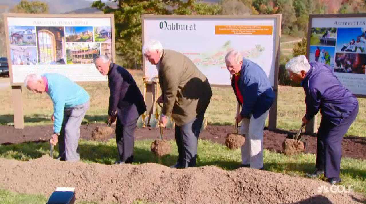 The legends break ground on their new project at The Greenbrier, set to open Fall 2016.