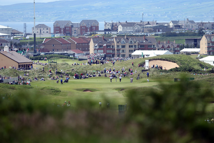 The 16th green during the 2012 Irish Open.