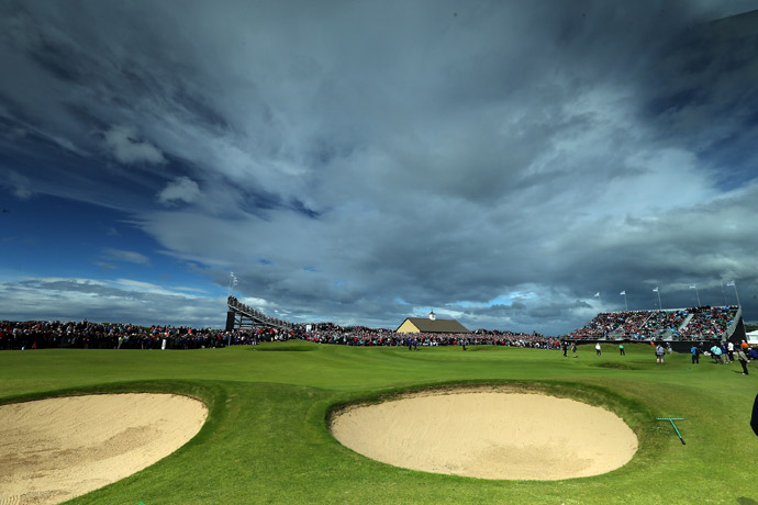 The 18th hole during the 2012 Irish Open.