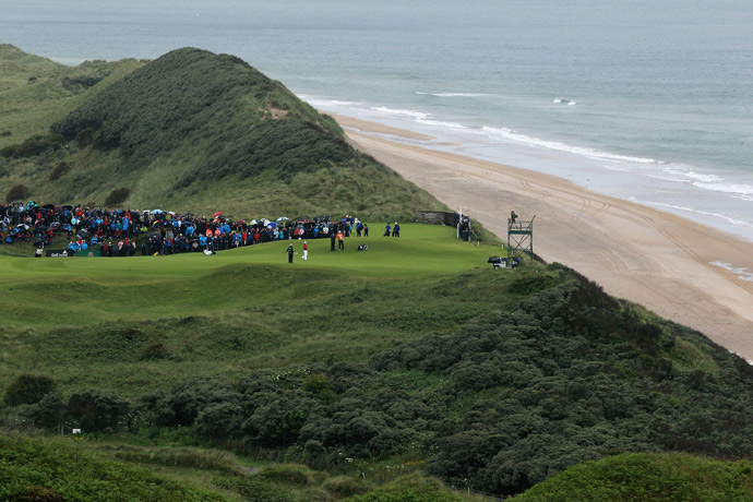 A view of the 5th green during the 2012 Irish Open.