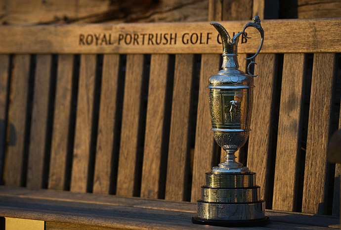 The Claret Jug at Royal Portrush.