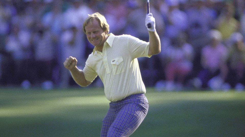 Jack Nicklaus during his historic 1986 Masters win.