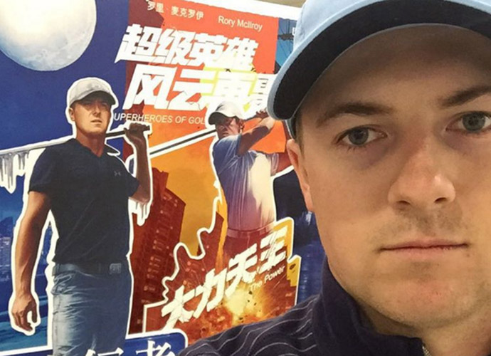 15 hours later in Shanghai and greeted by fire and iceman at the baggage claim.. Hi @rorymcilroy
