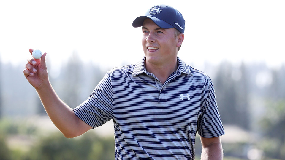 Jordan Spieth during the second round of the 2016 Tournament of Champions.