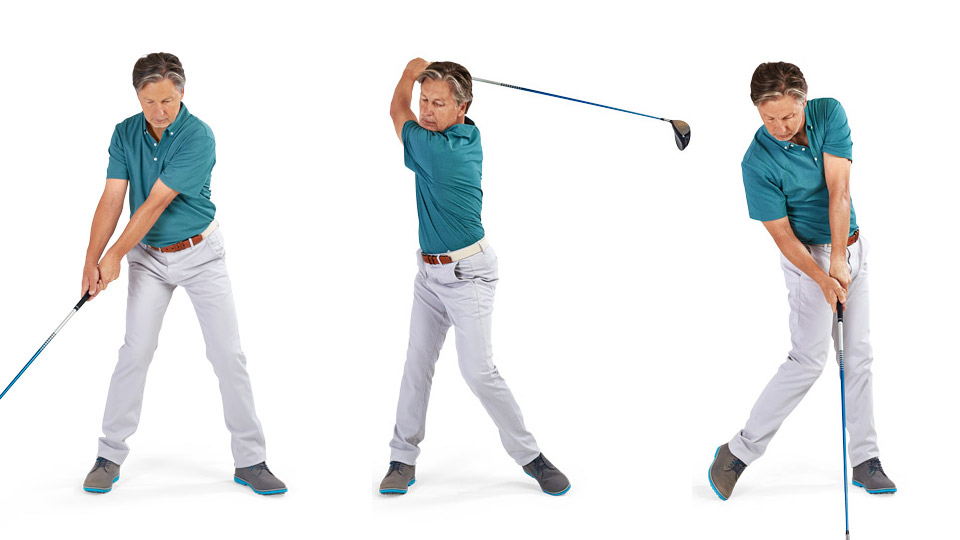Brandel Chamblee demonstrates the left-heel lift.
