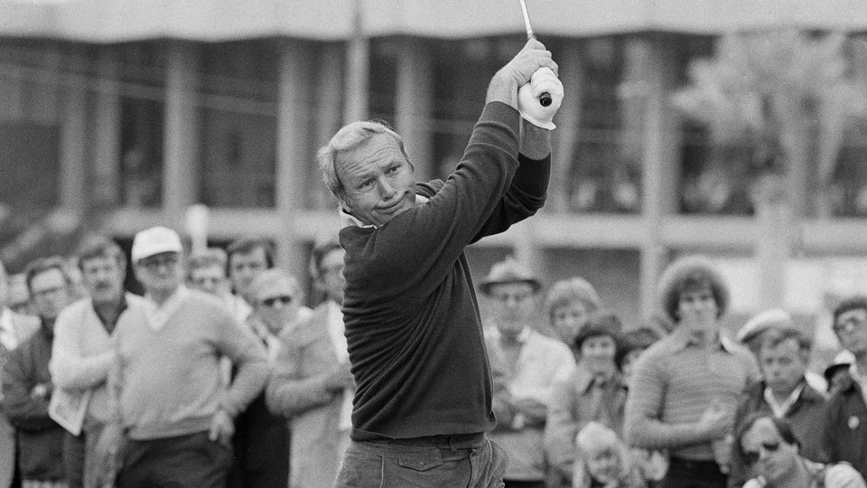 Palmer, shown here in 1978, hits a shot at the Phoenix Open at the Phoenix Country Club