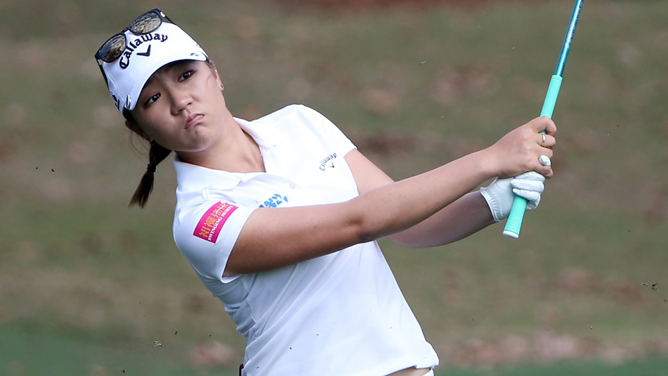 Lydia Ko plays a shot on the seventh hole during the first round of the Coates Golf Championship at Golden Ocala Golf Club on Feb. 3, 2016, in Ocala, Florida.