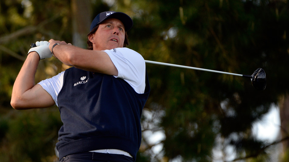 Phil Mickelson shot a four-under 68 at Spyglass Hill in round 1.