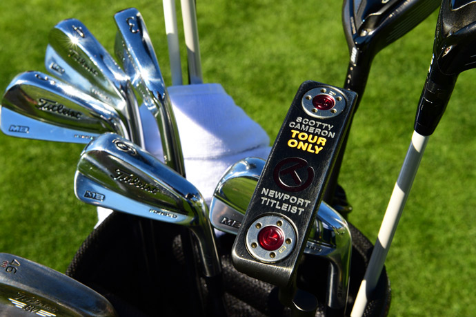 John Merrick favors Titleist forged MB irons, Vokey SM6 wedges, and a Scotty Cameron Tour Only Newport putter.
