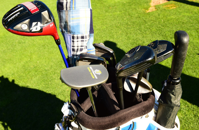 Matt Kuchar's got a Bridgestone driver and irons, Ping hybrids and a Bettinardi putter.