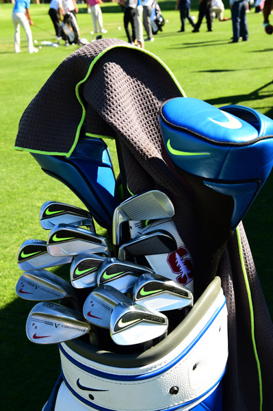 Big time Colts fan Patrick Rodgers is also a fan of Nike Vapor irons and custom stamped wedges.