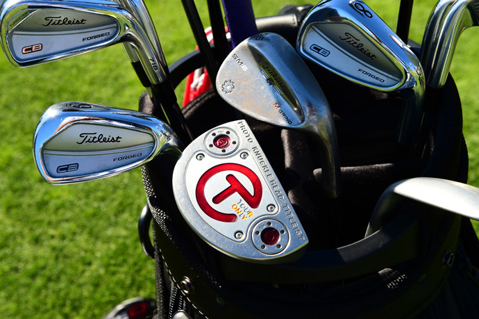 Titleist player Robert Streb favors forged CB irons, Vokey SM6 wedges, a Cameron putter and 915D driver.