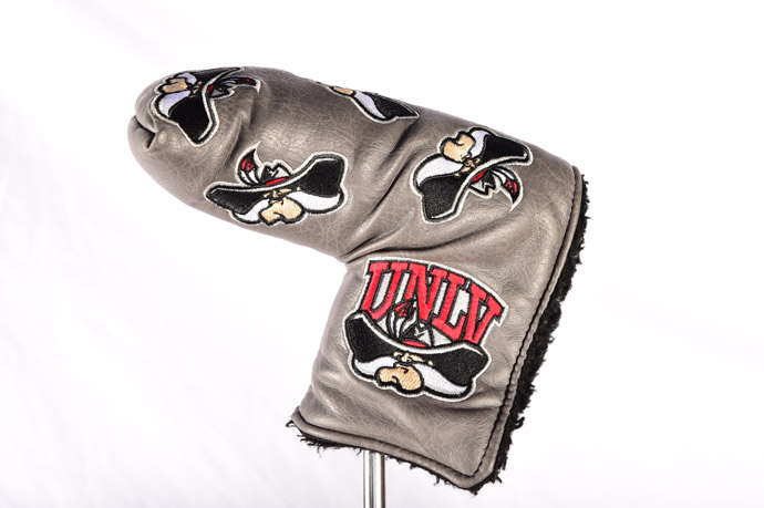 Moore's UNLV headcover is also pretty sweet.