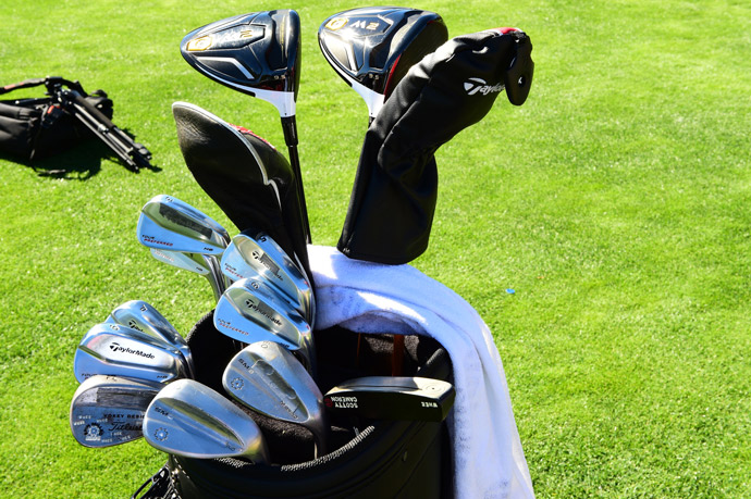 Whee Kim carries a combo of TaylorMade Tour Preferred irons, Vokey SM6 wedges and a Scotty Cameron putter. He's also experimenting with a couple of brand new TaylorMade M2 drivers.