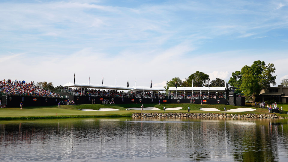 The 18th hole at Bay Hill Club and Lodge.