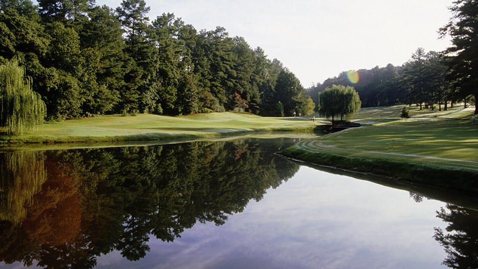 General View of the Peachtree Golf Club taken on June 14, 2004 in Atlanta, Georgia, USA.