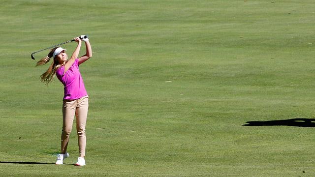 Kira Kazantsev during the Berenberg Gary Player Invitational Pro-Am held at GlenArbor Golf Club on October 12, 2015 in Bedford Hills, New York.