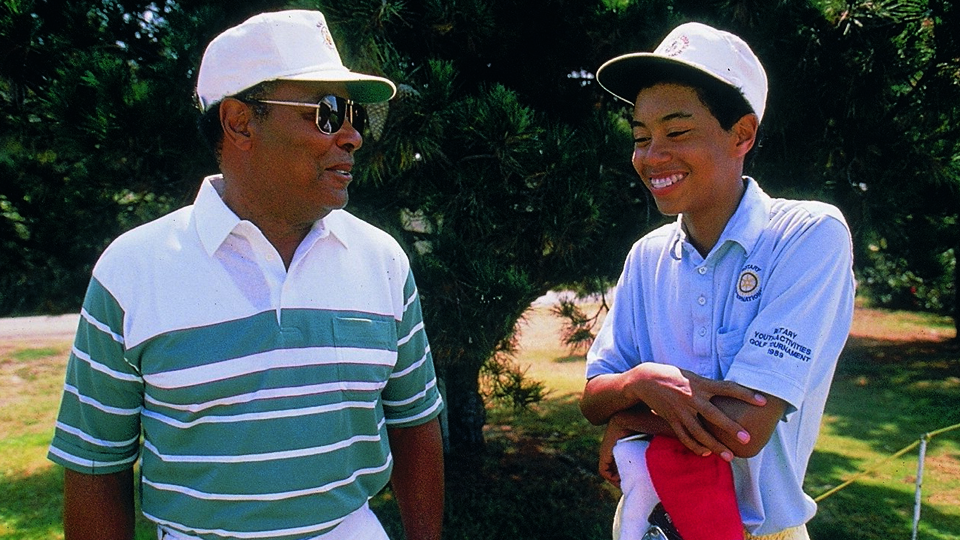 Tiger and his father, Earl, shown in 1989. Earl died in 2006.