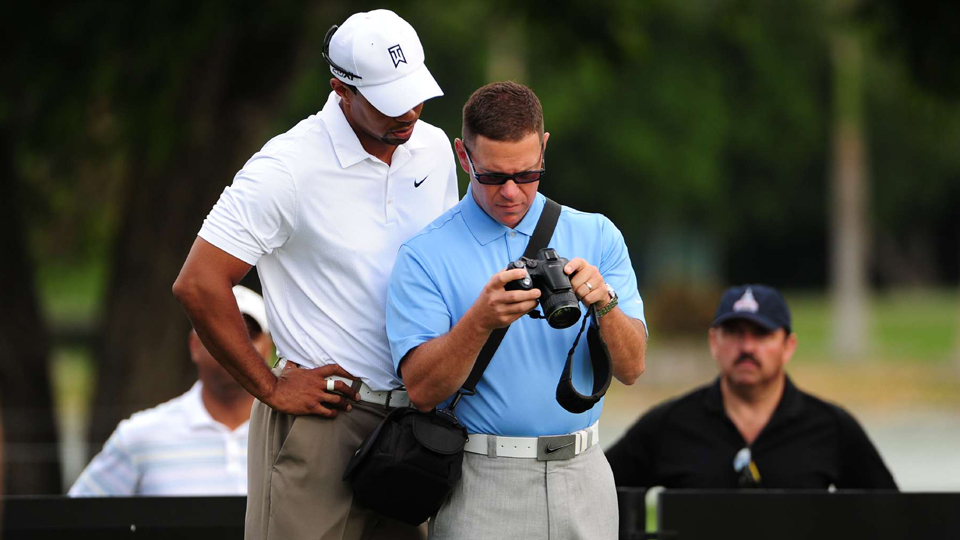 Tiger with then-coach Sean Foley in 2011. Foley still calls Woods his favorite player.