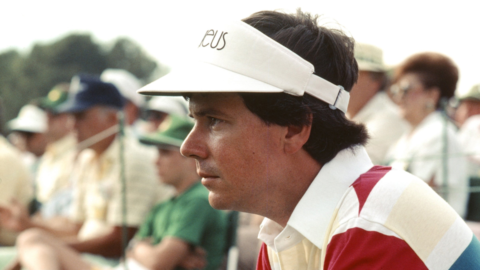 Larry Mize looks on during the 1987 Masters.