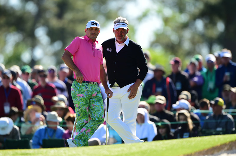 Billy Horschel, left, wore some colorful pants on Friday.