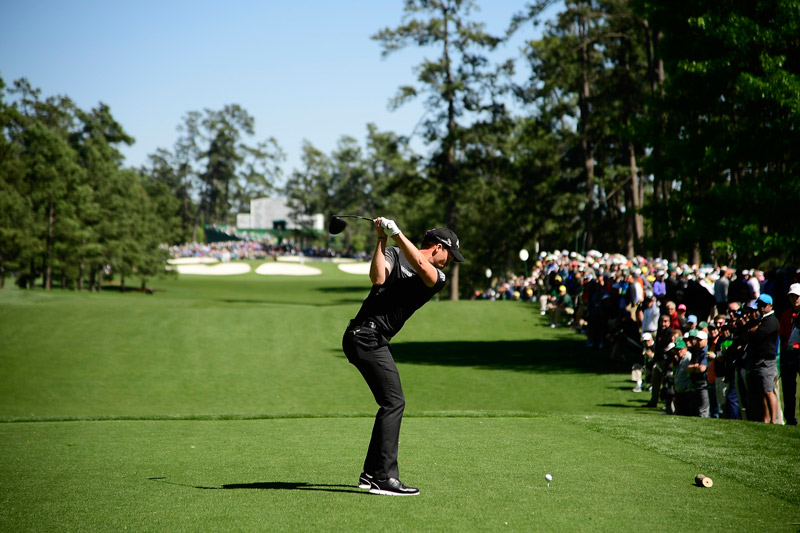 Danny Willett tees off on the seventh hole during round 3.