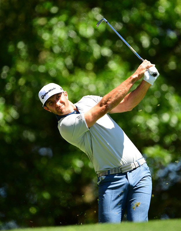 Dustin Johnson had a strong third round on Saturday.
