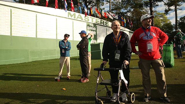 Bob Guzy soaks in his first view of Augusta National.