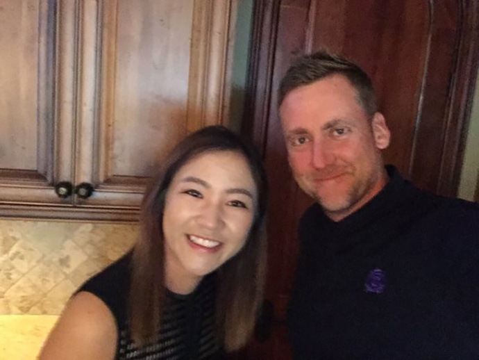 Great to see @LydiaKo at the @IMG house tonight. Congrats on all the success and long may it continue. Poults