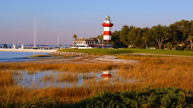 The iconic No. 18 at Harbour Town Golf Links.