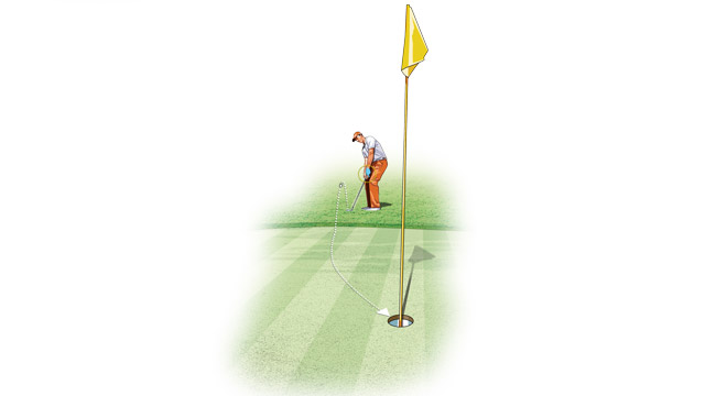 The draw your setup creates reduces the spin on the ball and helps it roll on a truer path.
