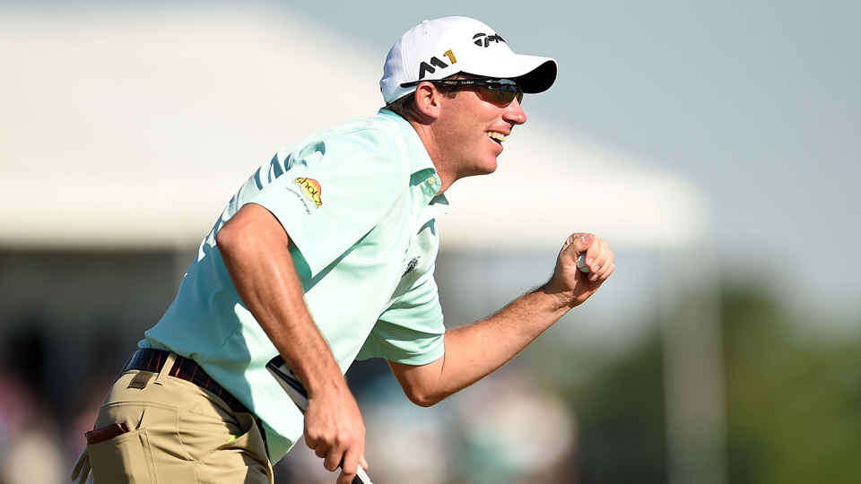 Holding the 54-hole lead for the first time in Houston, Herman didn't blink, firing a final-round 68.