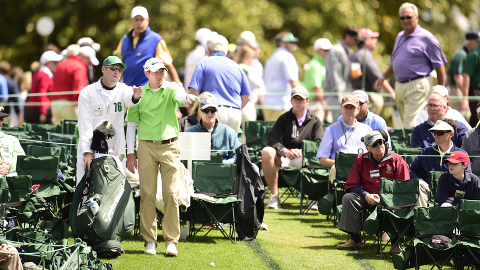 Herman (with Achatz) didn't play the weekend at Augusta National, but he was atop the leader board early on.