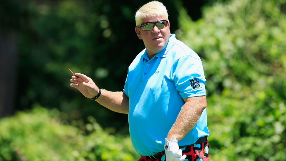 John Daly during his first round on the Champions Tour.