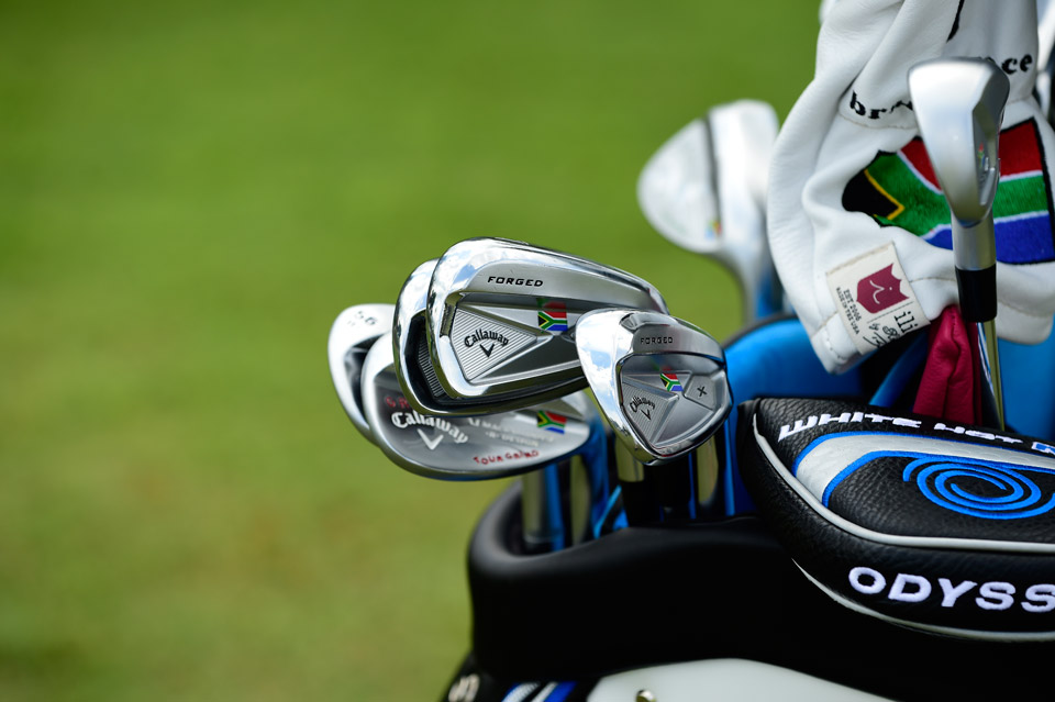 A logo of the South African flag adorns Branden Grace's Callaway X Forged (2013) irons. Watch out for Grace at The Players -- he's coming off a win and T9 finish in his last two starts.