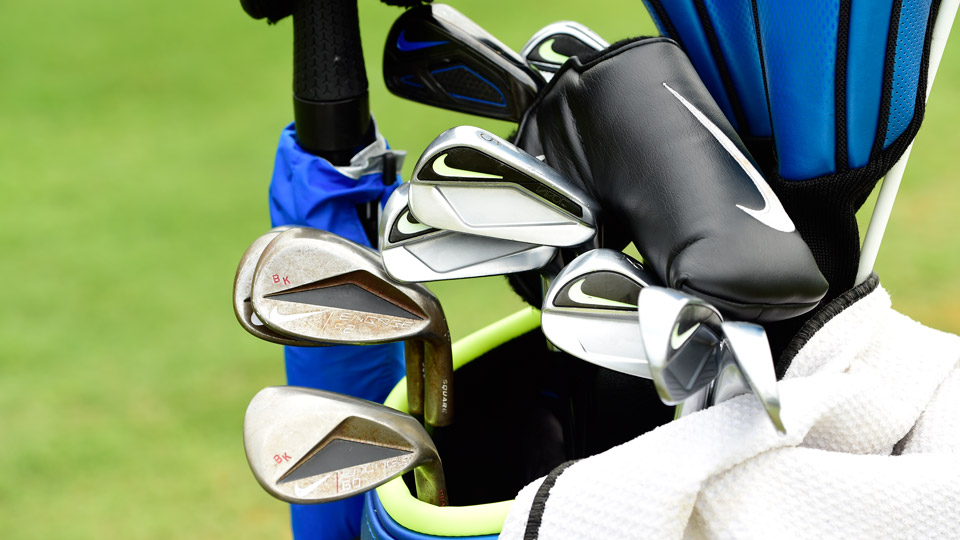Brooks Koepka sports a mixed bag of Nike irons -- Vapor Fly Pro (3), Vapor Pro Combo (4) and Vapor Pro (5-9), plus Engage wedges.