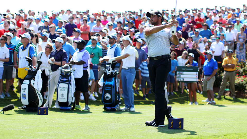 World No. 1 Jason Day cruised to a first-round 9-under 63 on Thursday at the Players, which tied a course record.