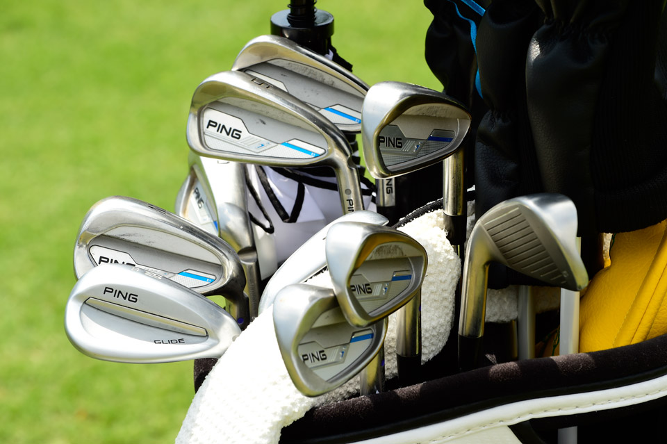 Andy Sullivan carries a mixture of Ping i irons and Glide wedges.