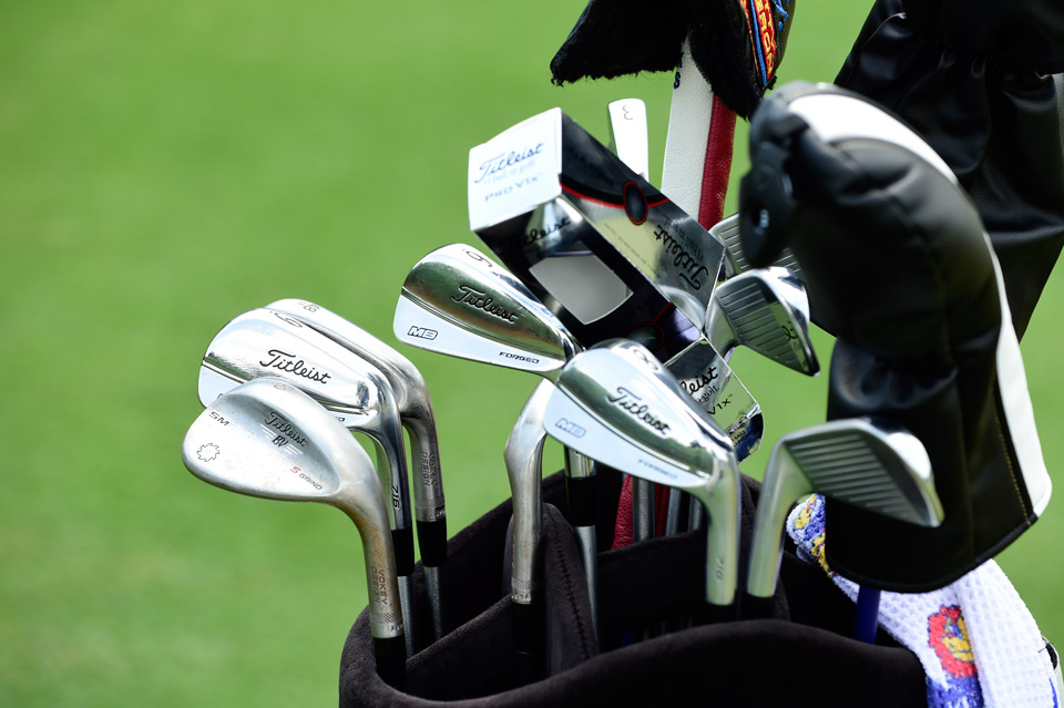 Big hitting Gary Woodland's Titleist bag consists of 716 MB Forged irons and Vokey Design SM6 wedges.