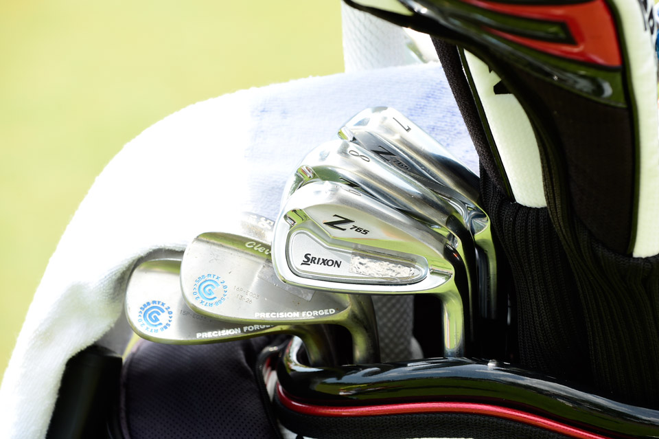 Japanese superstar Hideki Matsuyama is playing Srixon Z765 forged irons and Cleveland RTX 2.0 forged wedges.