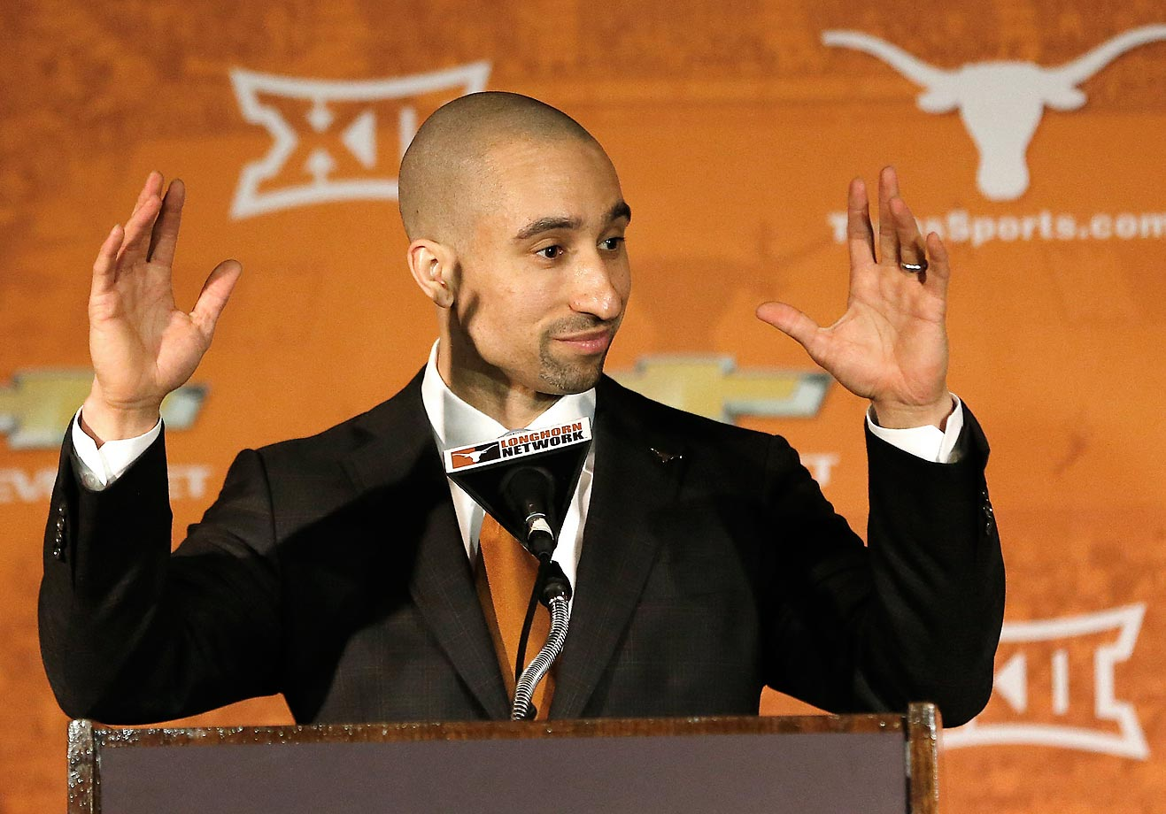 In March, Texas fired longtime basketball coach Rick Barnes, who led the program to a 402-180 record in 17 years in Austin. The Longhorns replaced Barnes with 38-year-old Shaka Smart, who led VCU to a 163-56 record over six seasons. The highlight of Smart's tenure at VCU was a surprising run to the 2011 Final Four. That season was the first of five straight in which the Rams reached the NCAA tournament. Texas has not reached the Sweet 16 since 2008 or the Final Four since 2003.                                      (Text credit: Alex Putterman/SI.com)