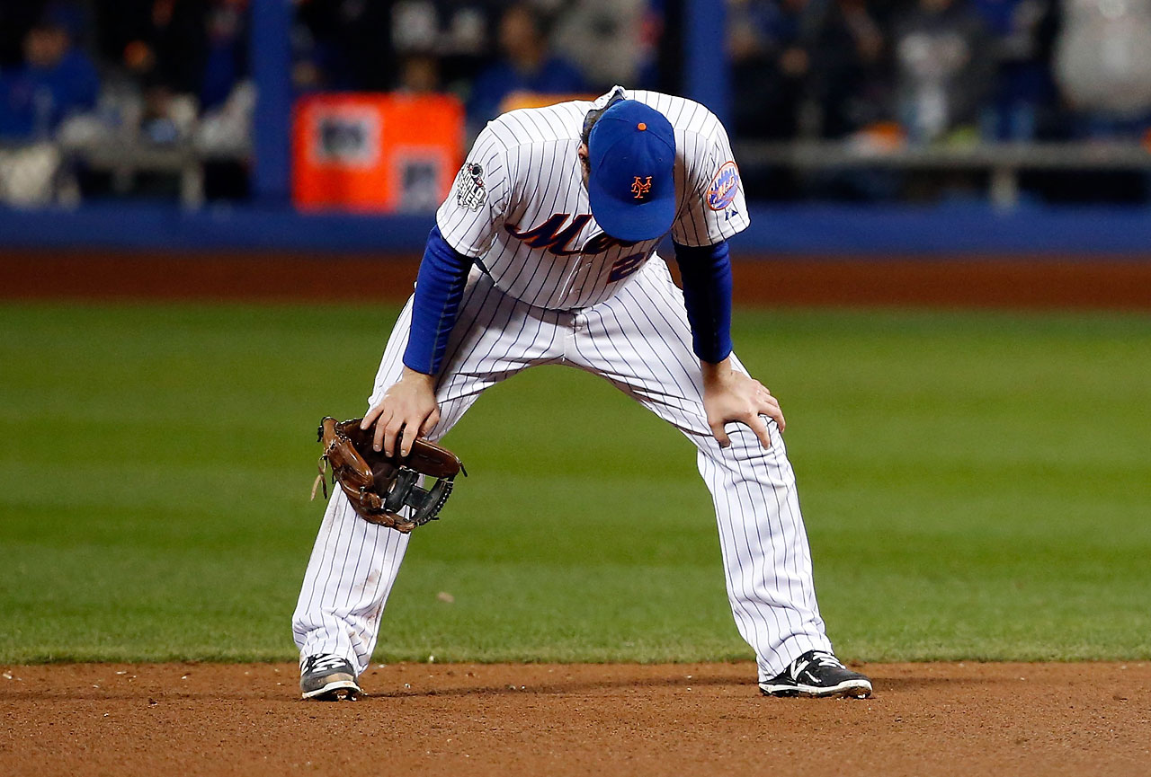 Daniel Murphy reacts after his costly miscue in the eight inning of Game 4.