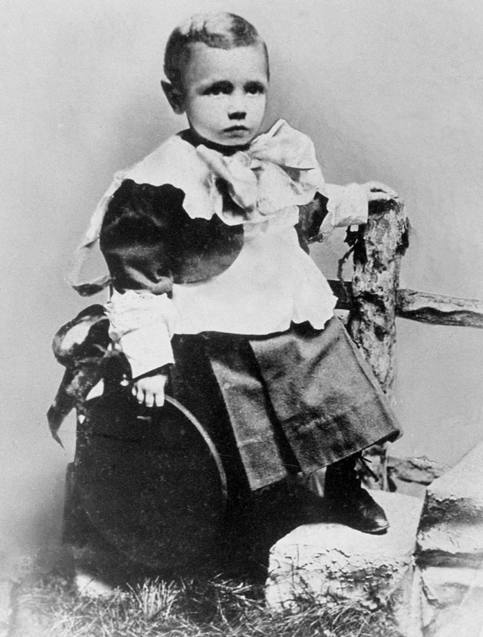 Three-year-old George Herman Ruth poses for a portrait in Baltimore in 1898.