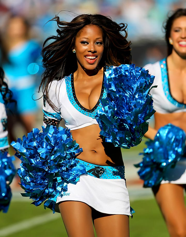 "Meet Siobhan of the Carolina Panthers TopCats, who wants to go sky diving someday, loves french toast and her grandmothers ackee and saltfish, a traditional Jamaican dish.  Her celebrity crush is Robert C. Riley, ""...because he is athletic and loves theater just as I do! Oh, and I forgot to mention he's super cute!!!"""