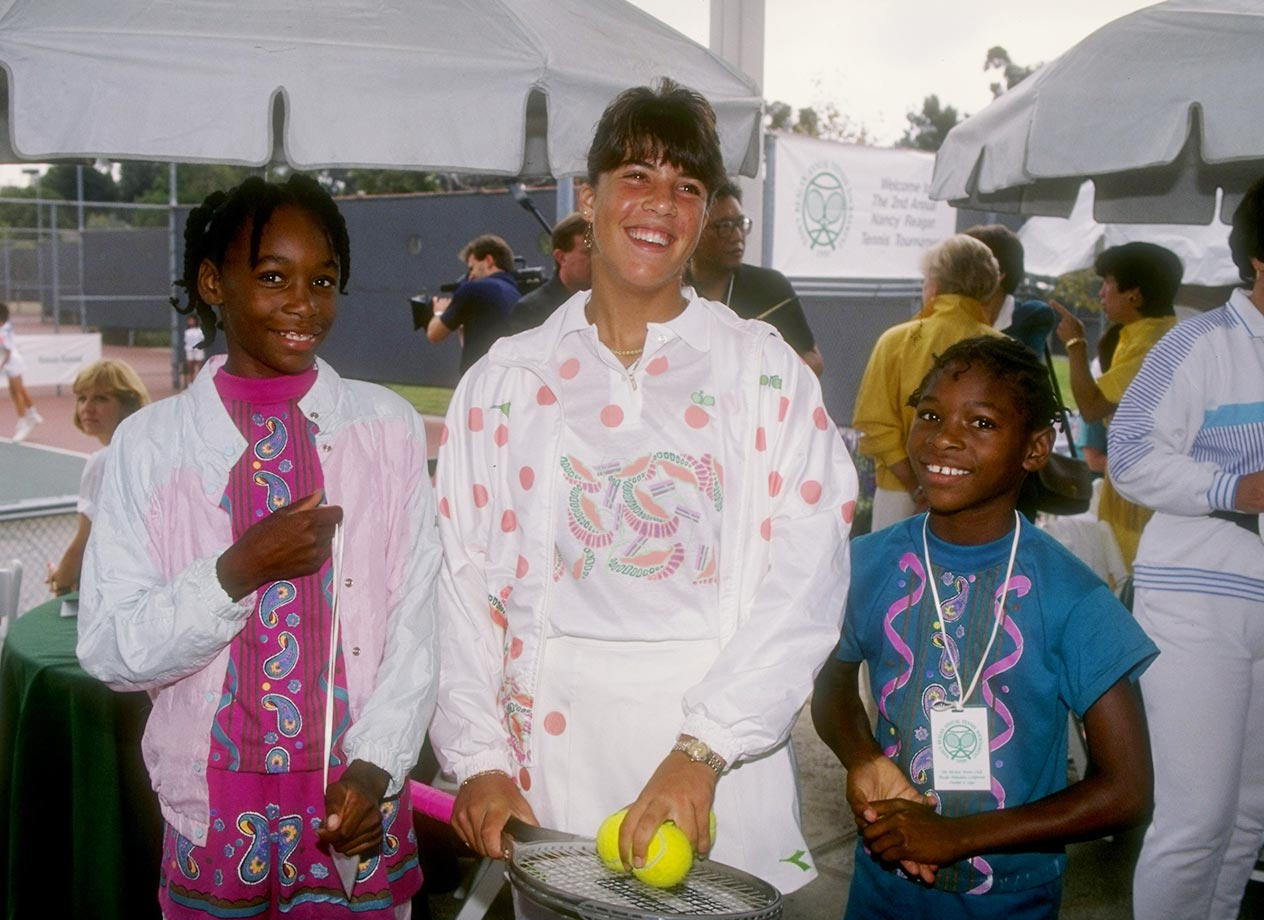 Young tennis prodigies were no strangers to the covers of Sports Illustrated and other popular magazines in the early '90s. But the spotlight was cast even brighter on Venus and Serena, due largely to their humble beginnings in California's rough and tumble Compton neighborhood. Here the two pose with Jennifer Capriati.
