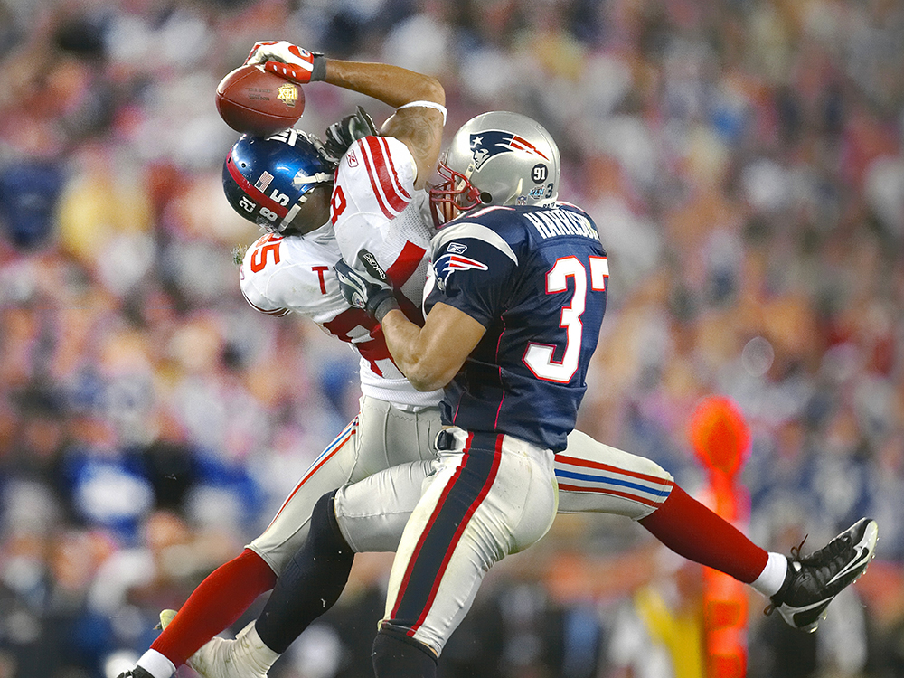 David Tyree knows the meaning of never letting go. His leaping 32-yard catch, while clutching the football against his helmet, put the New York Giants in position score four plays later and upset the New England Patriots.