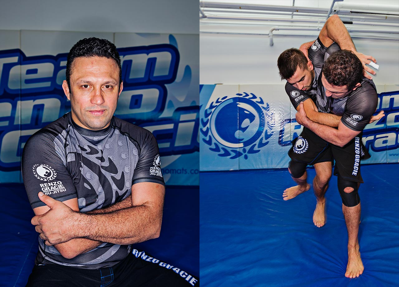 Renzo Gracie (Right on Action) and Luciano Christovam